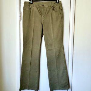 Chico's 🦜 Khaki Green Slacks